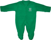 University of North Dakota Fleece Footed Romper