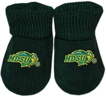 North Dakota State Bison Newborn Baby Bootie