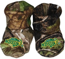 North Dakota State Bison Realtree Camo Baby Bootie