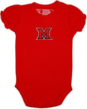 Miami University RedHawks Puff Sleeve Bodysuit
