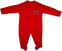 Miami University RedHawks Footed Romper