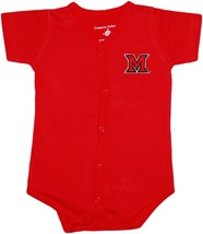 Miami University RedHawks Front Snap Newborn Bodysuit
