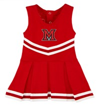 Miami University RedHawks Cheerleader Bodysuit Dress