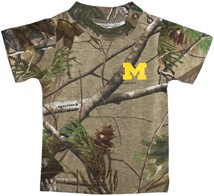 Michigan Wolverines Block M Realtree Camo Short Sleeve T-Shirt