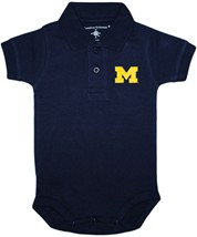 Michigan Wolverines Block M Polo Bodysuit