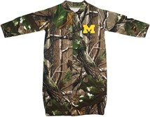 "Michigan Wolverines Block M Realtree Camo ""Convertible"" Gown (Snaps into Romper)"