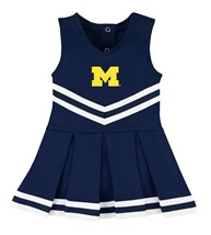 Michigan Wolverines Block M Cheerleader Bodysuit Dress