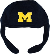 Michigan Wolverines Block M Chin Strap Beanie
