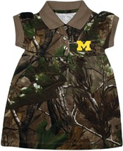 Michigan Wolverines Block M Realtree Camo Polo Dress