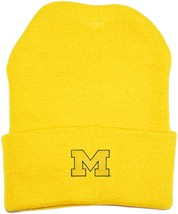 "Michigan Wolverines Outlined Block ""M"" Newborn Baby Knit Cap"