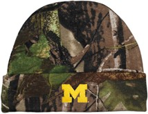 "Michigan Wolverines Outlined Block ""M"" Newborn Realtree Camo Knit Cap"