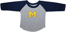 "Michigan Wolverines Outlined Block ""M"" Baseball Shirt"