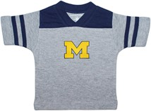 "Michigan Wolverines Outlined Block ""M"" Football Shirt"
