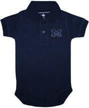"Michigan Wolverines Outlined Block ""M"" Polo Bodysuit"