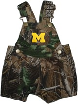 "Michigan Wolverines Outlined Block ""M"" Realtree Camo Short Leg Overall"