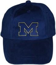 "Michigan Wolverines Outlined Block ""M"" Baseball Cap"