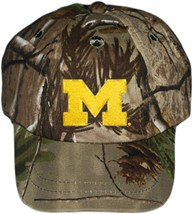 "Michigan Wolverines Outlined Block ""M"" Realtree Camo Baseball Cap"
