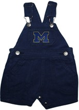"Michigan Wolverines Outlined Block ""M"" Short Leg Overalls"