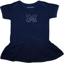 "Michigan Wolverines Outlined Block ""M"" Picot Bodysuit Dress"