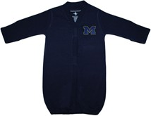 "Michigan Wolverines Outlined Block ""M"" Newborn Gown"