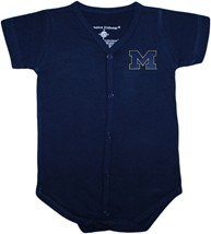 "Michigan Wolverines Outlined Block ""M"" Front Snap Newborn Bodysuit"