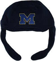 "Michigan Wolverines Outlined Block ""M"" Chin Strap Beanie"
