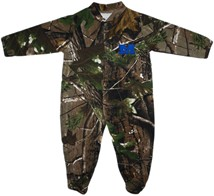 Millikin Big Blue Realtree Camo Footed Romper