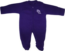 Stephen F Austin Lumberjacks Fleece Footed Romper