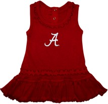 "Alabama Crimson Tide Script ""A"" Ruffled Tank Top Dress"