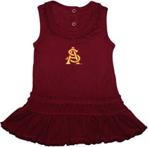Arizona State Interlocking AS Ruffled Tank Top Dress