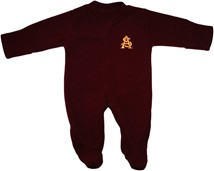 Arizona State Interlocking AS Fleece Footed Romper