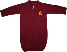 Arizona State Interlocking AS Newborn Gown