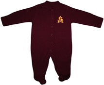Arizona State Interlocking AS Footed Romper