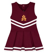 Arizona State Interlocking AS Cheerleader Bodysuit Dress