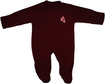 Arizona State Sun Devils Sparky Fleece Footed Romper