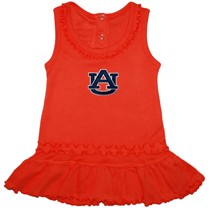 "Auburn Tigers ""AU"" Ruffled Tank Top Dress"