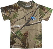 Creighton Bluejay Head Realtree Camo Short Sleeve T-Shirt