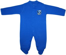 Creighton Bluejays Footed Romper