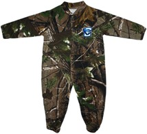Creighton Bluejays Realtree Camo Footed Romper