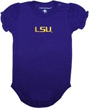 LSU Tigers Script Puff Sleeve Bodysuit