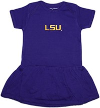 LSU Tigers Script Picot Bodysuit Dress