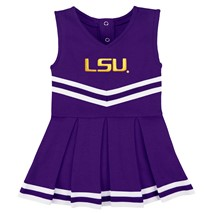 LSU Tigers Script Cheerleader Bodysuit Dress