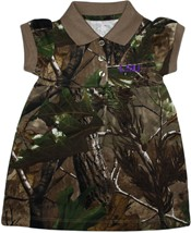 LSU Tigers Script Realtree Camo Polo Dress