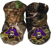 East Carolina Pirates Realtree Camo Baby Bootie