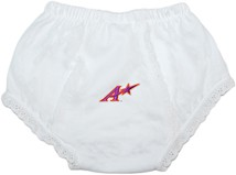 "Evansville Purple Aces Block ""A"" Baby Eyelet Panty"