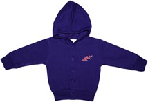 "Evansville Purple Aces Block ""A"" Snap Hooded Jacket"