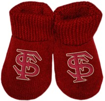 Florida State Seminoles Interlocking FS Newborn Baby Bootie