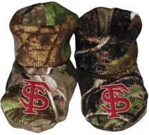 Florida State Seminoles Interlocking FS Realtree Camo Baby Bootie