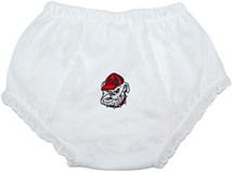 Georgia Bulldogs Head Baby Eyelet Panty