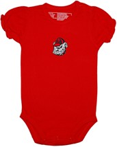 Georgia Bulldogs Head Puff Sleeve Bodysuit